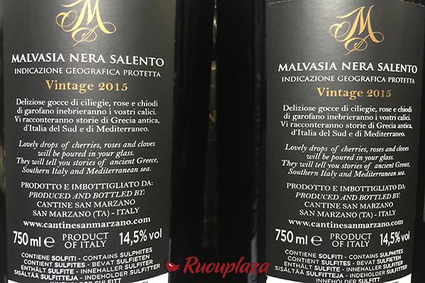 rượu vang malvasia nera M